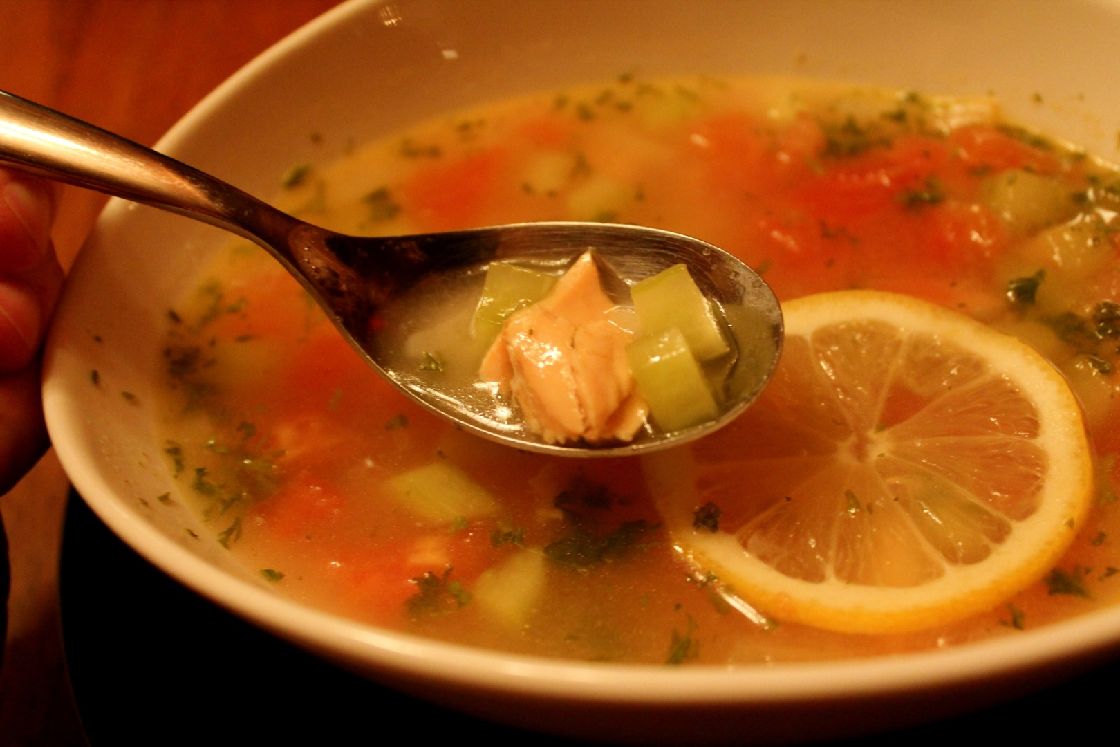 Clear fish soup cabinorganic for Fish broth soup