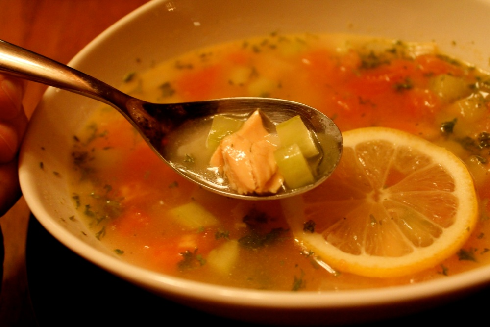 clear fish soup (1/3)