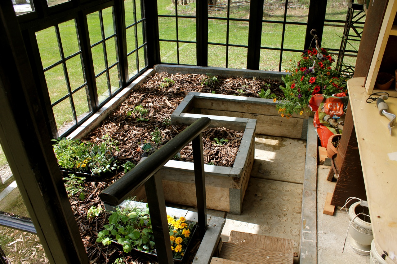 Greenhouse made from old windows cabinorganic for How to build a greenhouse using old windows